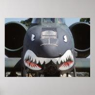 A-10_Thunderbolt_II_Shark_Face Poster