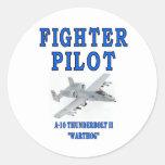 A-10 THUNDERBOLT II warthog Classic Round Sticker