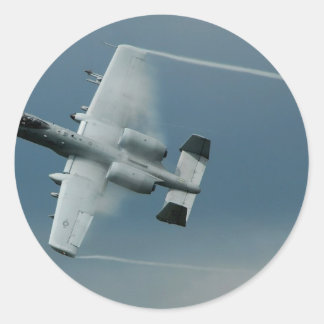 A-10 Thunderbolt Round Stickers