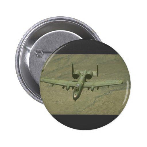A-10 Warthog anti-tank aircraft, aerial shot Pins