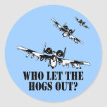 A-10 Warthog Etiquetas Redondas