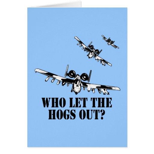 A-10 Warthog Greeting Card