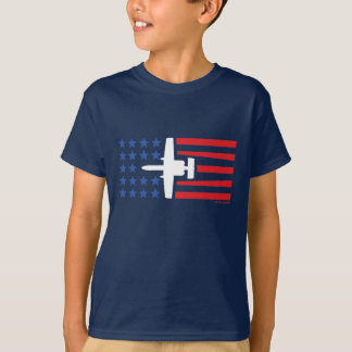 A-10 Warthog Jet Stars and Stripes Red White Blue T-Shirt