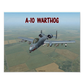 A-10 WARTHOG POSTER