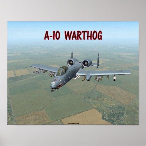 A-10 WARTHOG PÓSTER