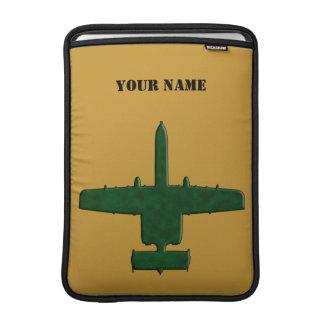 A-10 Warthog Silhouette Green Camo Airplane Sleeve For MacBook Air