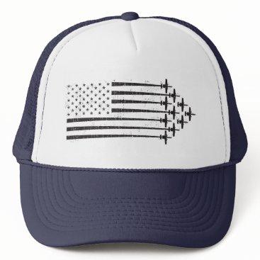 A-10 Warthog Vintage Style USA Flag Formation Trucker Hat