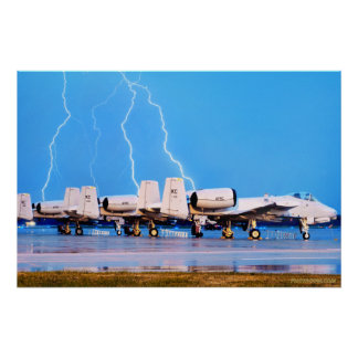 A-10's with Lightning Poster