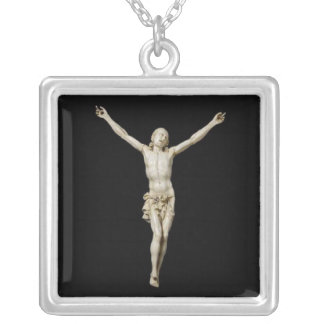 A 17th century carved ivory figure of Cristo Vivo Silver Plated Necklace