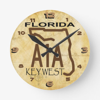 A-1-A Key West registran Reloj Redondo Mediano