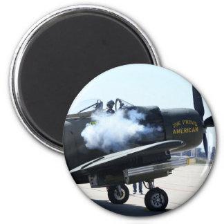 A-1 Skyhawk - Engine Start 2 Inch Round Magnet