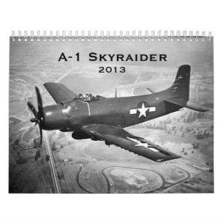 A-1 Skyraider, 2013 Calendarios De Pared
