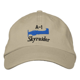 A-1 Skyraider (Light Color Only) Embroidered Baseball Cap