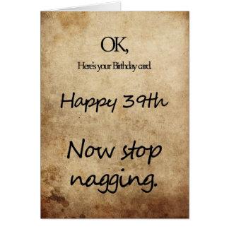 39th Birthday Wishes Greeting Cards Zazzle Happy 39th Birthday Wishes
