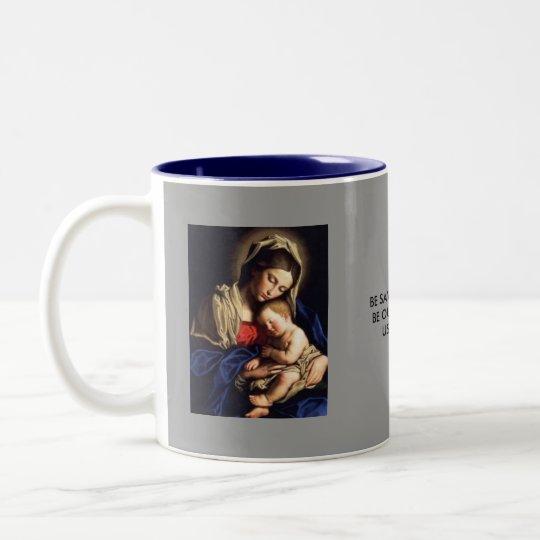 a-3 virgin and child mug