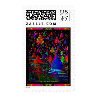 A 3D Raindrop Fantasy By Dragoncat Stamp