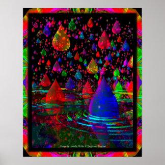 A 3D Raindrop Fantasy Poster