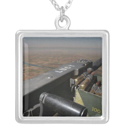 A 50 caliber machine gun silver plated necklace