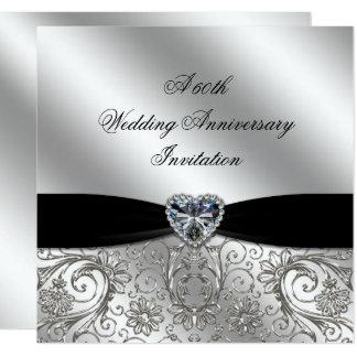 A 60th Diamond Wedding Anniversary Invite