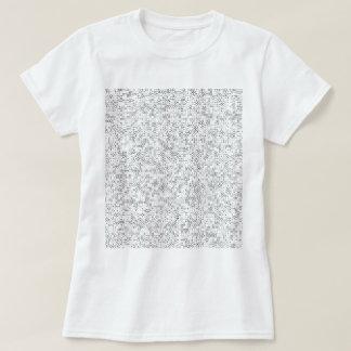 A-6 Black on White T-Shirt