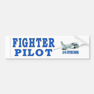 A-6 NTRUDER FIGHTER PILOT CAR BUMPER STICKER
