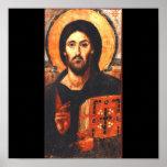 A 6th century icon of Jesus Print