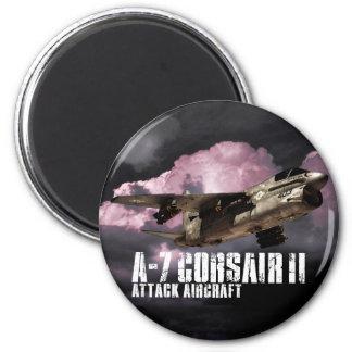 A-7 Corsair II 2 Inch Round Magnet