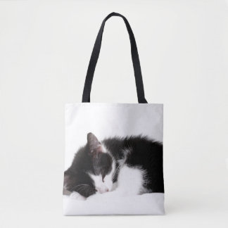 A 9-Week Old Kitten Sleeping (Felis Catus) Tote Bag