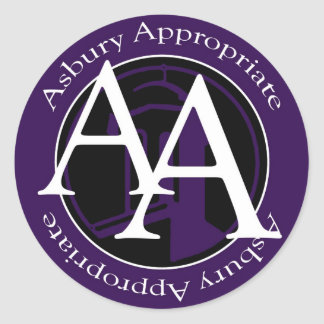 A.A. All the Way Classic Round Sticker