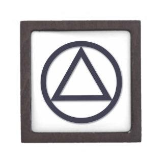 A.A. Caja de regalo superior del símbolo Caja De Joyas De Calidad
