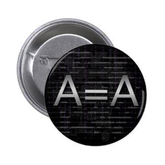 A=A Logic Objectivist Tech Button
