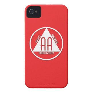 A.A. Logo Blackberry Curve Case Sponsor Red iPhone 4 Case