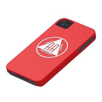 A.A. Logotipo Blackberry intrépido - rojo del Carcasa Para iPhone 4