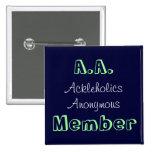 A.A. Member Pinback Buttons