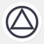 A.A. Pegatina del símbolo