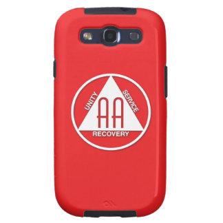 A.A. Rojo del patrocinador de la caja de la galaxi Galaxy S3 Fundas