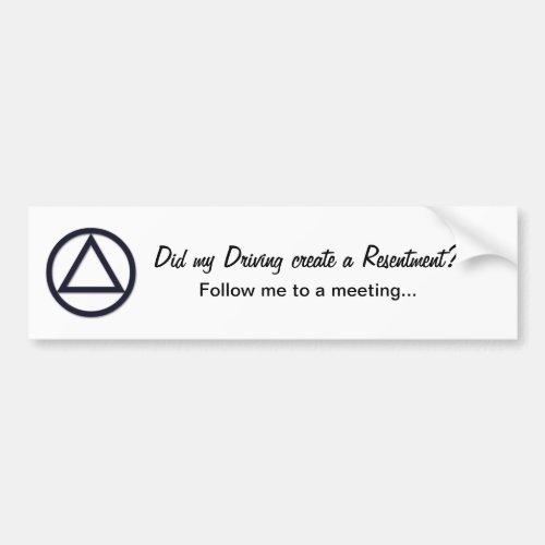 AA Symbol Bumper Sticker