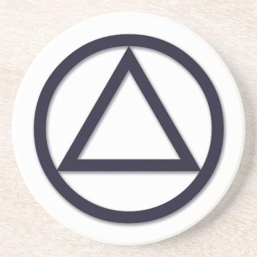 A.A. Symbol Coaster - Round