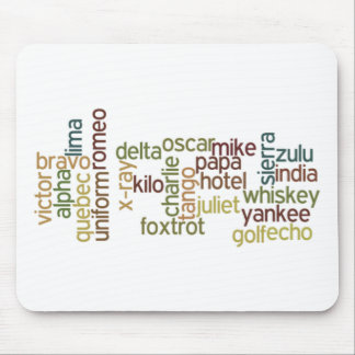 A a telefonía del alfabeto fonético de Z (Wordle) Alfombrillas De Ratón