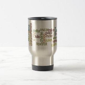 A a telefonía del alfabeto fonético de Z (Wordle) Taza De Café
