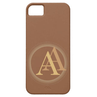 """""""A&A"""" your monogram on """"iced coffee"""" color iPhone SE/5/5s Case"""