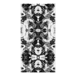 A abstract black white watercolor Pattern. Photo Card