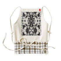 A abstract black white watercolor Pattern. Zazzle HEART Apron