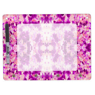 A abstract pink fuchsia pattern. dry erase board with keychain holder