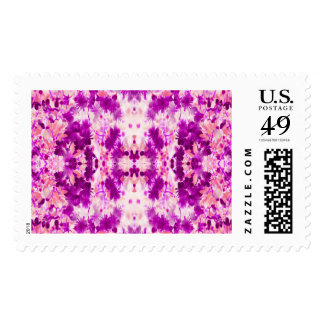 A abstract pink fuchsia pattern. postage stamp