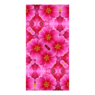 A abstract pink orchids pattern. card