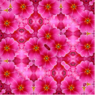 A abstract pink orchids pattern. standing photo sculpture