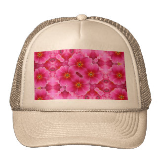 A abstract pink orchids pattern. trucker hat