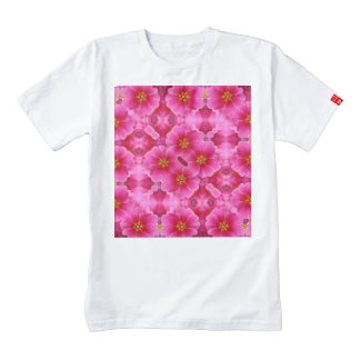 A abstract pink orchids pattern. zazzle HEART T-Shirt