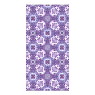 A abstract purple orchids Pattern. Card